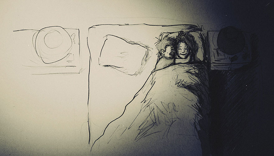 Love Is……Cuddling Your Partner To Sleep