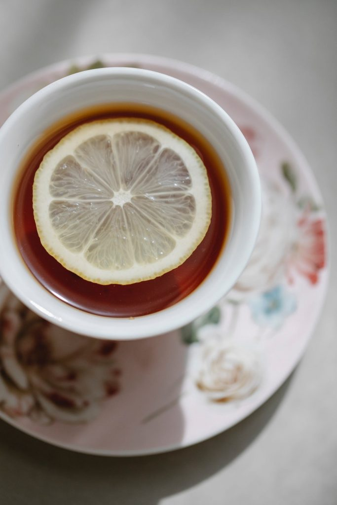 Not to take out lemon pieces from a cup of tea