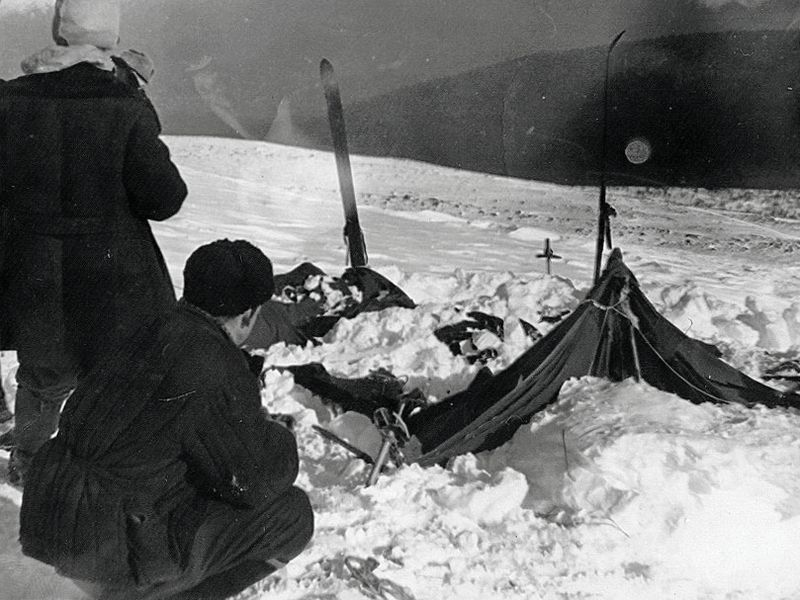 Rescuers found the Dyatlov group's abandoned tent on February 26, 1959
